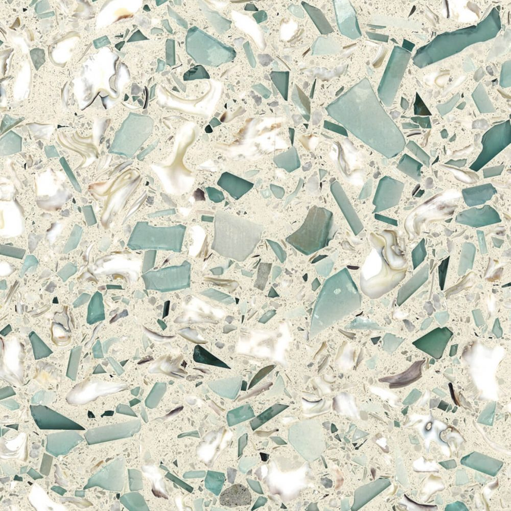 EMERALD BLUE POLISHED - VETRAZZO RECYCLED GLASS